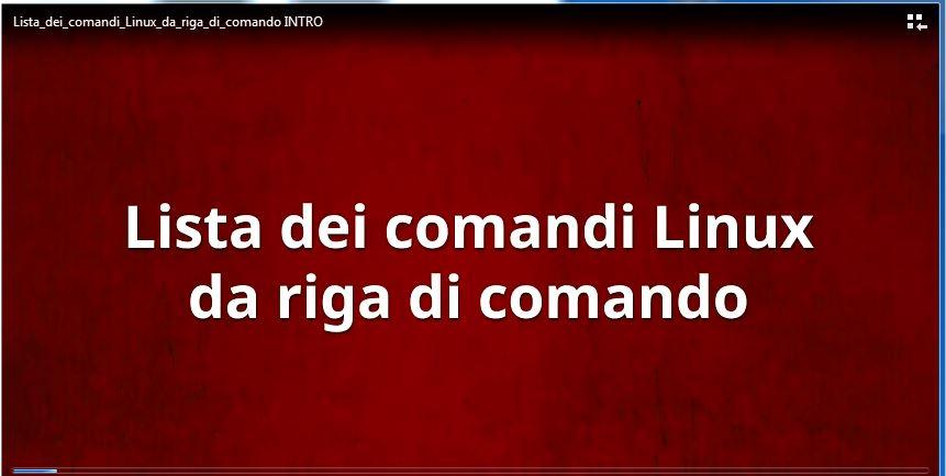 Lista dei comandi Linux da riga di comando 4