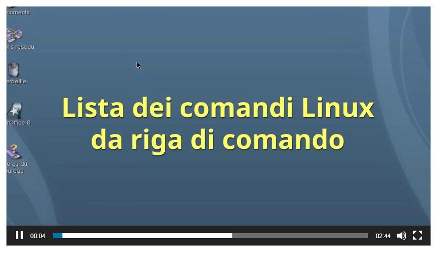 Lista dei comandi Linux da riga di comando 1° serie