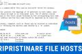 TSHOOTING WINDOWS: Come ripristinare il file Hosts predefinito