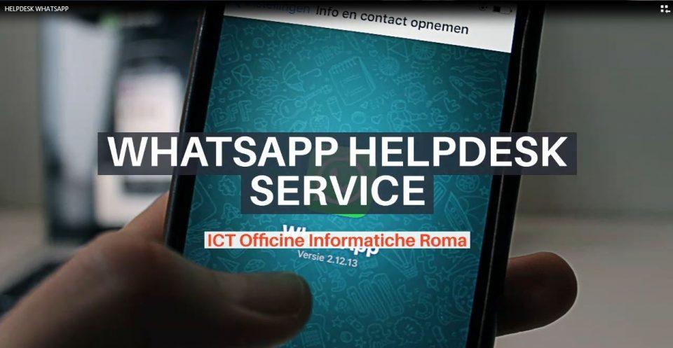 FREE HELPDESK SERVICE  – WHATSAPP