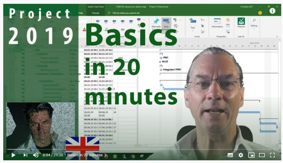 MS Project 2019 – Basics in 20 Minutes