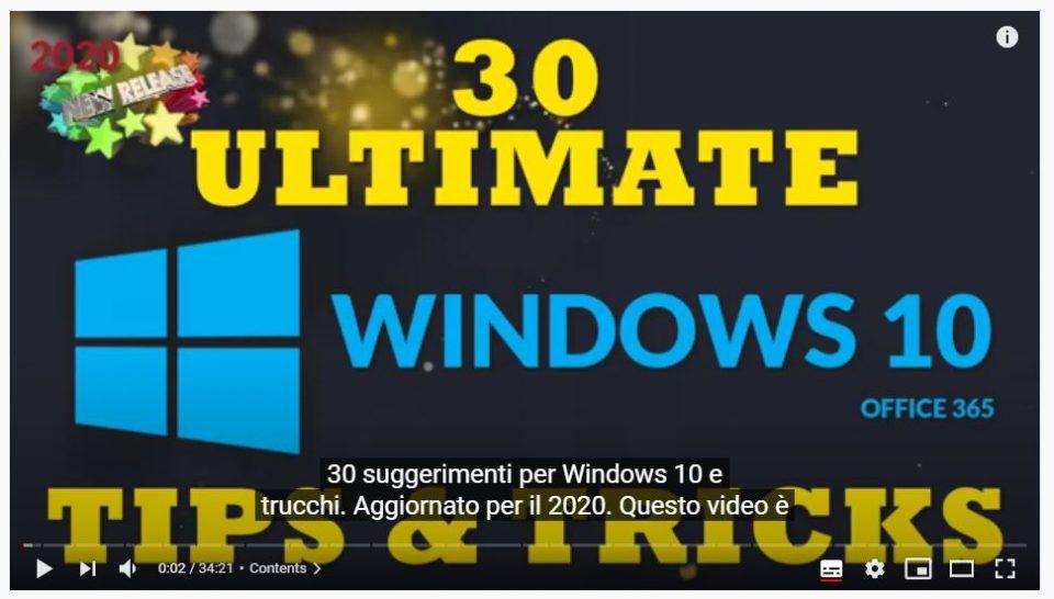 30 suggerimenti e trucchi per Windows 10 definitivi per il 2020
